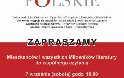 Narodowe Czytanie 2019 – Nowele Polskie