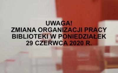 Uwaga – oddział dla dzieci nieczynny 29.06.2020