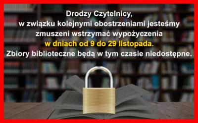 Zbiory biblioteczne znowu niedostępne
